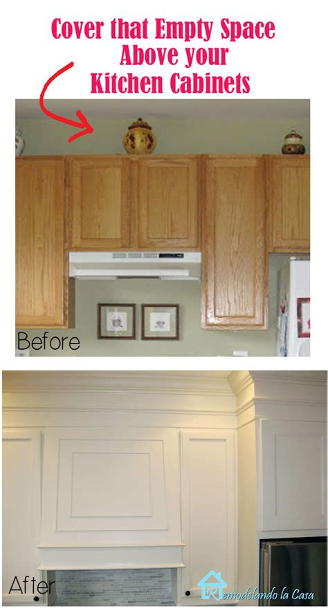 space above kitchen cabinets ideas closing the space above the kitchen cabinets remodelando