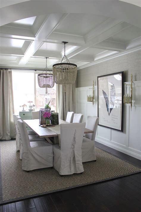 dining room ceiling ls add personality to your interior with a coffered ceiling
