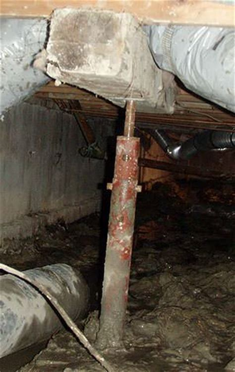 Repairing Sagging Floor Joists & Girders In Your Crawl