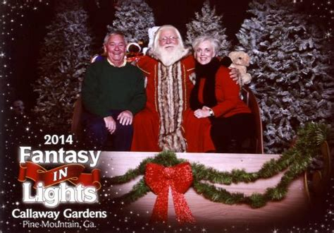 christmas village with santa picture of callaway gardens