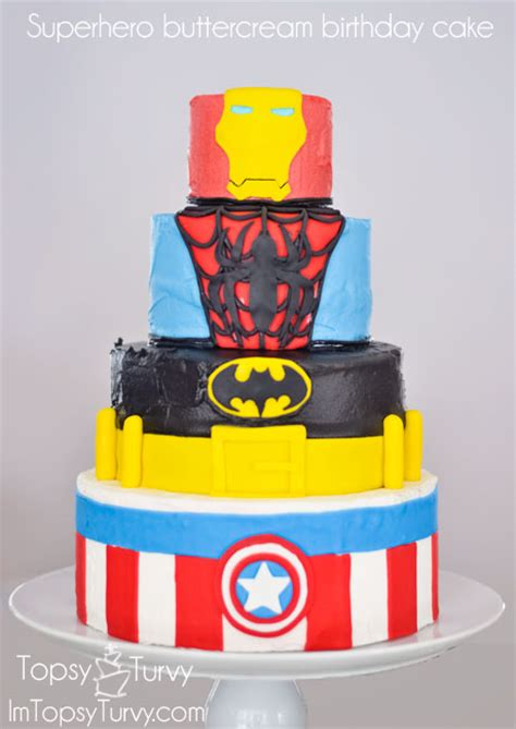 superhero birthday cake ashlee marie real fun