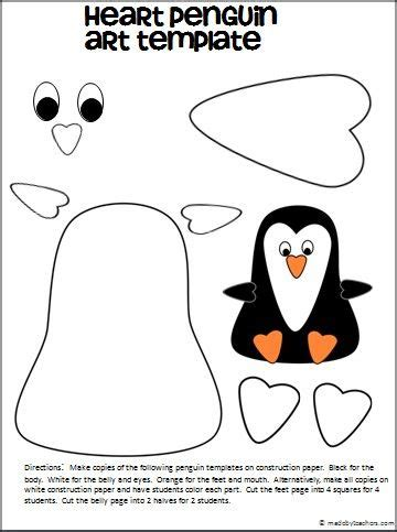 penguin craft template crafts actvities and worksheets for preschool toddler and kindergarten