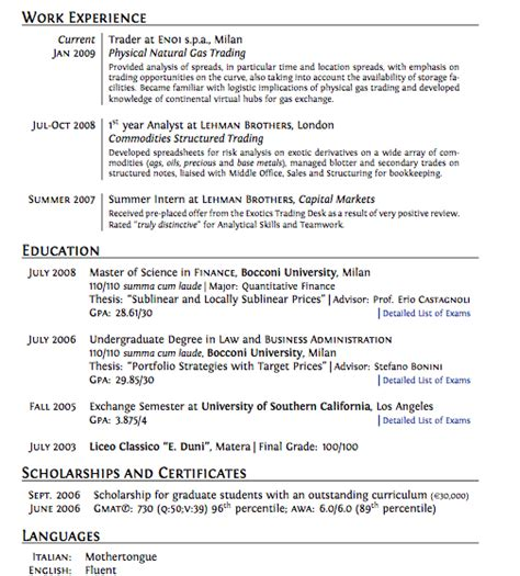 Exle Of A Great Cv by Cv Layout What Makes A Cv Stand Out Monstercouk
