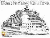Cruise Ship Coloring Pages Carnival Print Freedom Ships Yescoloring Cruises Stupendous sketch template