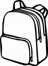 Backpack Drawing Clipart Coloring Simple Pack Opened Clipartmag Template Clip Sketch Clipground sketch template