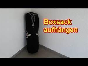 Hängeschrank Aufhängen Anleitung : boxsack richtig aufh ngen sandsack befestigen anleitung youtube ~ Orissabook.com Haus und Dekorationen