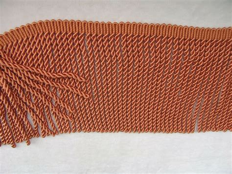 Upholstery Fringe Trim by By Yard 6 Quot Silky Rayon Bullion Fringe Trim In Copper