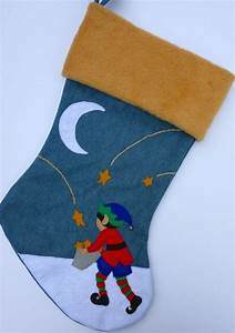 felt christmas stocking for girl or boy quotletters to santa With felt letters for stockings