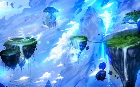 fantasy art artwork floating island hd wallpapers