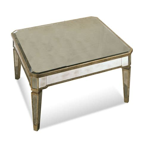 mirrored coffee table bassett mirror 8311 130 borghese mirrored square cocktail table beyond stores