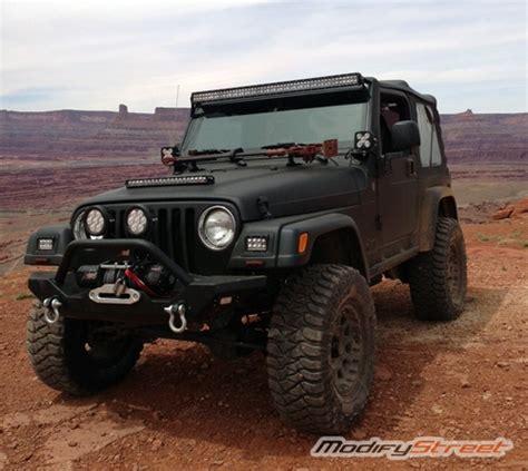 for 97 06 jeep wrangler tj 50 quot led light bar steel