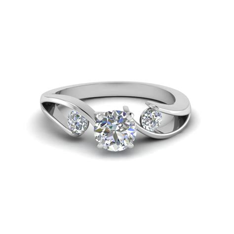 tension set cut 3 engagement ring in