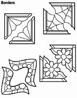 Borders Coloring Corner Pages Colouring Corners Sheets Crayola Patterns sketch template