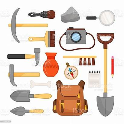 Tools Archaeological Brushes Archeologische Archaeology Archaeologist Vectorreeks