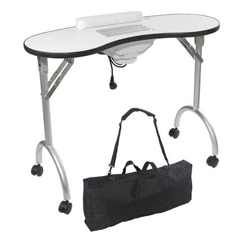 bureau manucure table manucure pliante avec aspirateur peggy achat