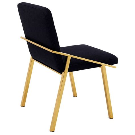 Panama Wooden Chairs by Dining Chair In Gold Finish And Panama Velvet For