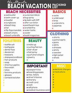 the ultimate vacation packing list free printable