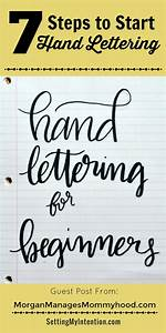 7 steps to start hand lettering setting my intention With best hand lettering books for beginners