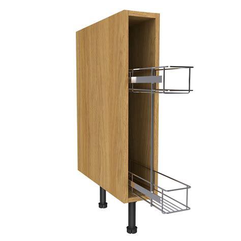 oak effect kitchen cabinets cooke lewis oak effect pull out base cabinet w 150mm 3567
