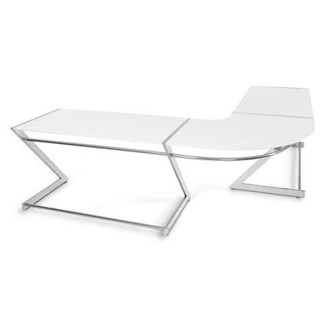 chrome bureau bureau d 39 angle design tutti en bois laqué et métal chromé