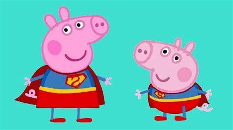 superman peppa pig and peppa pig super heroes vs jellyfish peppa heroes part 1