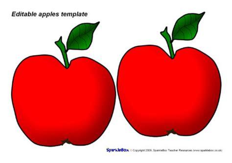 editable apples template red sb sparklebox