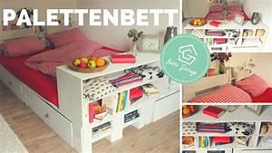 Palettenbett Selber Bauen Bett Aus Europaletten DIY