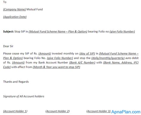 stop sip  mutual fund  application form