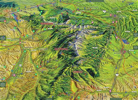 big horn mountain country map big horn mountain coalition