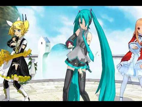 Mmd Hatsune Miku Friends Dance The Song