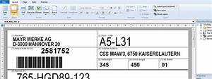 Label printing software tformer barcode label and form for Free label printing software excel