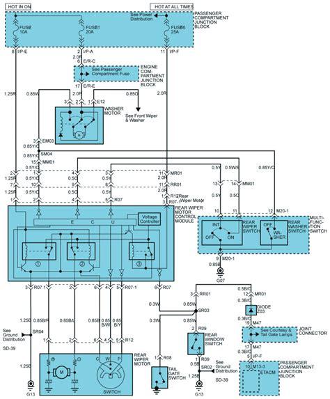 Free Wiring Diagram 2003 Hyundai Santum Fe by Repair Guides Rear Wiper Washer 2003 Rear Wiper