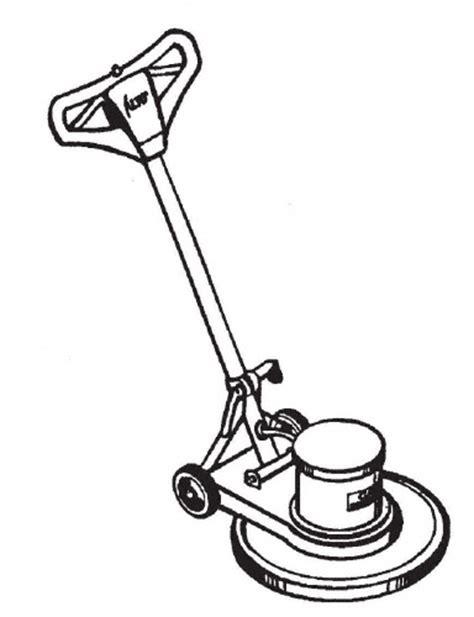 Clarke Floor Buffer Machine by Floor Buffer Clipart 9