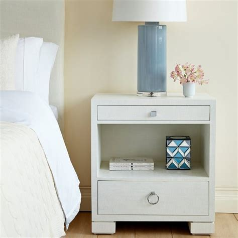 Frances 2drawer Side Tablewhite By Bungalow 5 Bedside