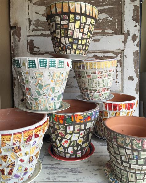 decorating flower pots few mosaic projects are more satisfying and practical than