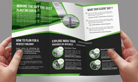 Travel Brochure Template 3 Fold by Travel Brochure 9 Sles Exles Format