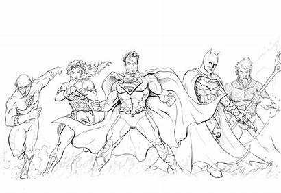 Justice League Line Drawing Early Getdrawings
