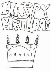 Dibujos De Happy Birthday Para Pintar Colorear Imgenes