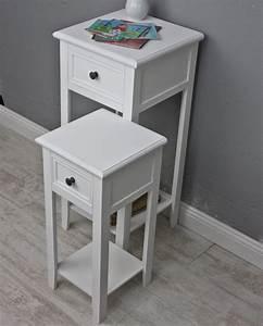 Telefontisch Weiß Hochglanz : 2x telefontisch set tisch wei ~ Markanthonyermac.com Haus und Dekorationen