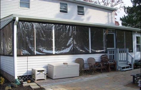 Clear Plastic Patio Walls - enclosed patio backyard curtain adorable outdoor curtains