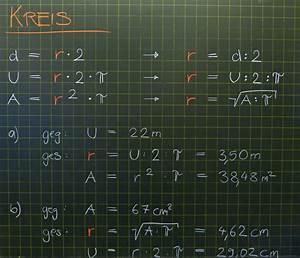 Mittelpunkt Kreis Berechnen : mathematik geometrie tafelbilder kreis berechnung ~ Themetempest.com Abrechnung