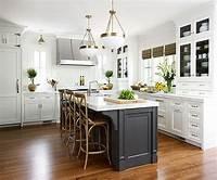 black kitchen island Contrasting Kitchen Islands | White kitchen island ...
