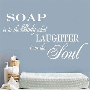 SOAP SOUL BATHROOM QUOTE VINYL WALL ART STICKER DECAL