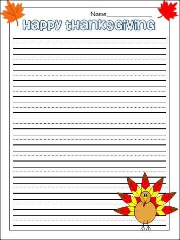 thanksgiving lined writing papera lined paper