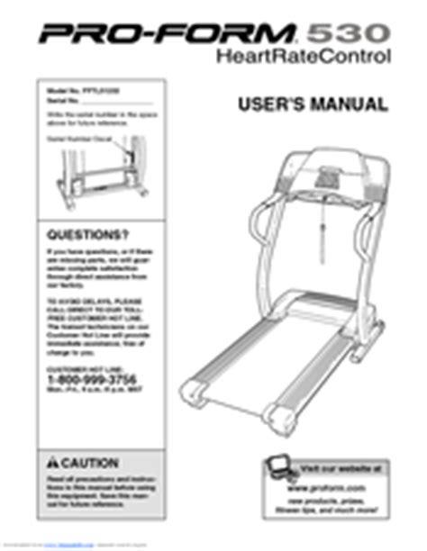 pro form 530x proform 530 pftl51233 manuals