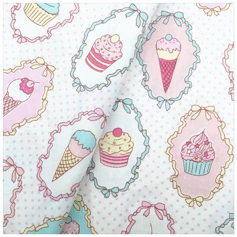 ice cream table cloth ice cream printed 100 cotton fabric diy sewing craft