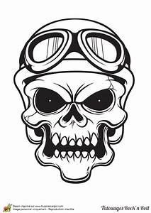 Dessin Tete De Mort Avec Rose : coloriage tatouage rock motard ~ Melissatoandfro.com Idées de Décoration