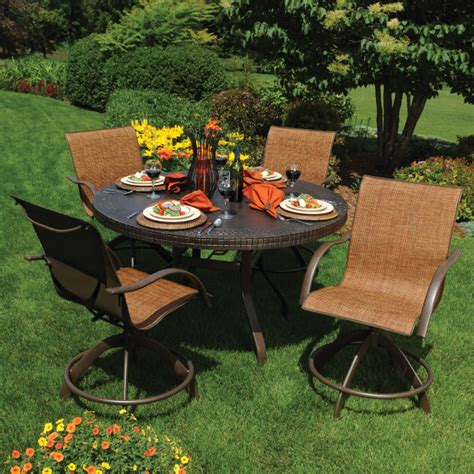 outdoor wicker table dining room set south sea rattan