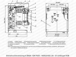 Zn28-12k Indoor High Voltage Vcb For 12kv Switchgear