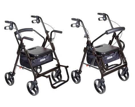 rs15 795bk duet transport wheelchair rollator walker 822383213491 rollators combination rollator